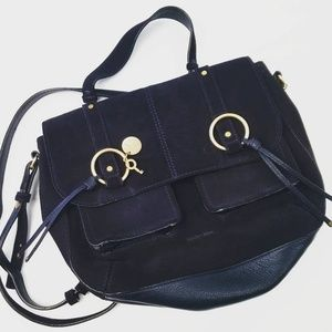 SEE BY CHLOE navy suede  bag.
